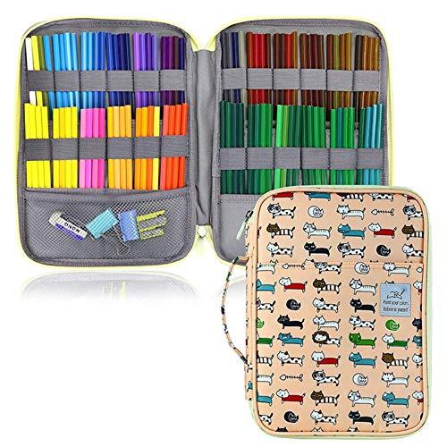 Federmappe Satch 96 Löcher Schule-Bleistift-Kasten Nette große Patrone for Mädchen Jungen Pencilcase Große Speicher-Feder-Office Box Paketangebot (Color : Y08)