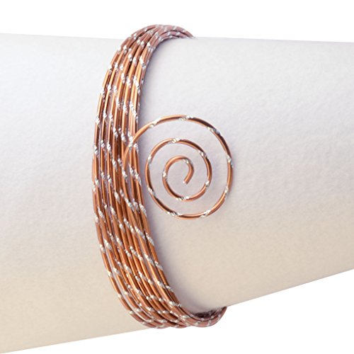 Vaessen Creative Aludraad diamant sieraden 2 mm x 5 meter | buigzaam sieraaddraad koper, aluminium, oranje koper, 500 x 0,2 x 0,2 cm