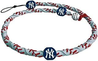 MLB New York Yankees NecklaceFrozen Rope Reflective Baseball, Team Colors, One Size, RFR-MLB-NEY-C