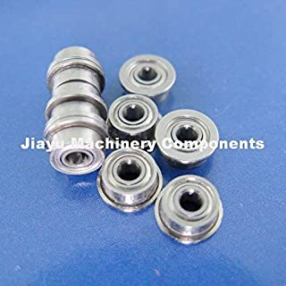 Fevas 50 PCS SMF72ZZ Flanged Bearings 2x7x3 mm Stainless Steel Flange Ball Bearings