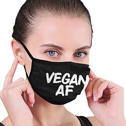BAGR Vegan AF Masker voor Mannen & Vrouwen - Masker kan worden gewassen Herbruikbaar Masker One Size Meerdere Patronen