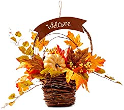 Esoteric Maven Welcome Fall Harvest Floral Basket Wall Décor