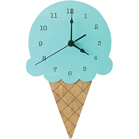 Dollhouse Miniature Round Ice Cream Themed Clock