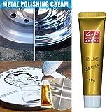 JIEHED - Pulido para metal, 3 unidades, acero inoxidable, color crema