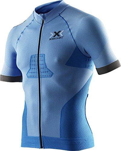 X-Bionic Race EVO Biking Shirt- Camiseta para hombre, Azul (Marina Blue/Anthracite), Small