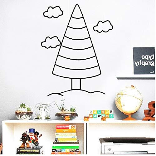 hetingyue schattige stam-wolkenvinylbehang rollendecoratiemeubel-wanddecoratiesplakaat