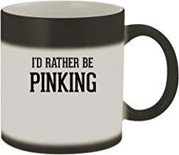 I'd Rather Be PINKING - 11oz Ceramic Matte Black Color Changing Mug, Matte Black
