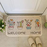 玄関マット 泥落としマット ドアマット PVC 厚さ約1cm 屋外 室内 45×75cm 洗える おしゃれ かわいい 滑り止め付き 耐磨耗性 業務用 家庭用 清潔簡単