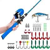 Kit de pêche pour enfants avec moulinet et appâts, Type2-Blue Griff, (1.5m) EU