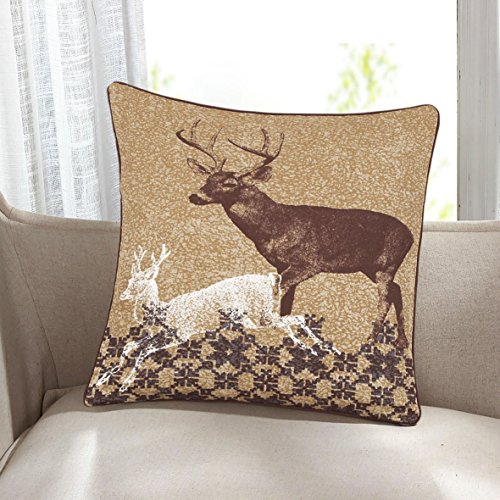 JUBILEEHOMEWARE Cushion Cover Christmas Sofa Bed Home Decoration Festival Pillow Case Cushion Cover Size 18'x18'/45cm *45cm (BROWN STAG)