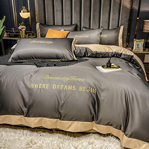 Bedding-LZ Juegos de sábanas de 90 de Oferta,Lavado de Agua de Verano Ropa de Cama de Cuatro Piezas-Cama y Desayuno_1,8 m de Cama (4 Piezas)