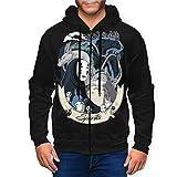 Others Spirited Away Men's Pullover Sweatshirt Hoodies, Full Zip 3D Active Cosplay Sweatershirt