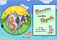 Bauern machen Regeln (Wandkalender 2022 DIN A3 quer): Fuer jeden Monat ein lustiges Bild mit einer bekannten Bauern-Regel. (Monatskalender, 14 Seiten )