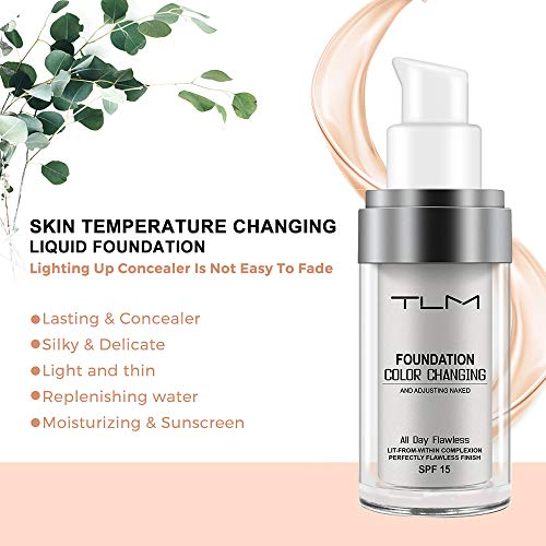 2 Pack TLM Flawless Colour Changing Foundation