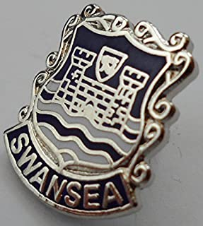 Swansea City Wales Pin Badge Welsh With Butterfly Clasp (w0379)