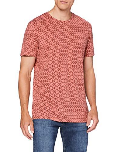 Springfield 3Ex AOP Polycotton-C/68 Camiseta, Multicolor (Wine 68), S (Tamaño del Fabricante: S) para Hombre