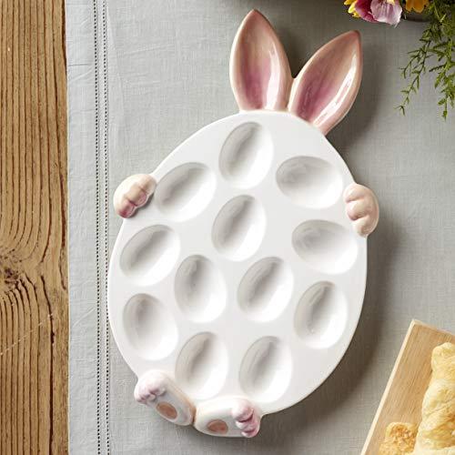 Easter Bunny Deviled Eggs Appetizer