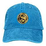 Lsjuee Yin Yang Gold Koi Gorras de béisbol Ajustables Sombreros de Mezclilla Sombrero de Vaquero Ret...