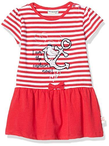 Salt & Pepper Baby-Mädchen 03213203 Kleid, Rot (Lollipop Red 344), (Herstellergröße: 62)