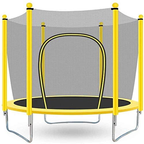 Cama de Salto de trampolín de Seguridad para el hogar para niños pequeños,con Carcasa de Red de Seguridad y Almohadilla de Espuma; r Actividad Deportiva de Gorila Redonda Interior al Aire Libre,