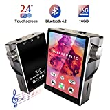 MP3 Player with Bluetooth 16GB Full Touch Gueray 2.4 Inch Touch Display MP4 Player FM Radio HiFi Music Player Lossless Digital Audio Walkman Video E-Book Digital Recording SD Card Slot up to 128GB