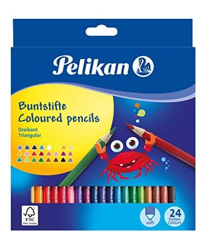 Pelikan 700122 Buntstifte, dreikant, 24 Stück, FSC