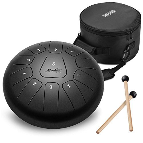Moukey 10' Steel Tongue Drum a 11 note Strumento a percussione in acciaio con custodia