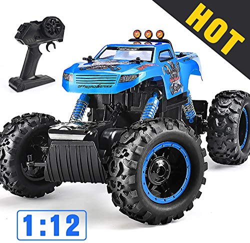 NQD Remote Control Trucks Monster RC Car 1: 12 Scale Off Road Vehicle 2.4Ghz Radio Remote Control Car 4WD High Speed Racing All Terrain Climbing Car Gift for Boys