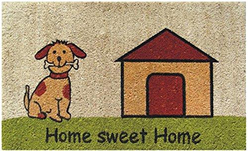 Akzente Felpudo Clásico 45 x 75 cm Hecho de Fibra de Coco Natural. Diseño Home Sweet Home.