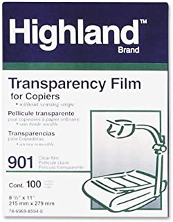 3M Highland 901 8.5 in x 11-inch Transparency Film