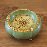 CESULIS Gran Capacidad Cenicero de cerámica Pastoral Americana Mesa de café artesanías de decoración decoración de la casa Vieja Europea Retro Creativa Plato de Fruta pequeña Regalos