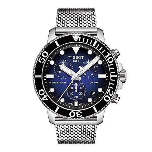 Tissot orologio uomo Seastar 1000 Cronograph 45,5mm acciaio quarzo T120.417.11.041.02