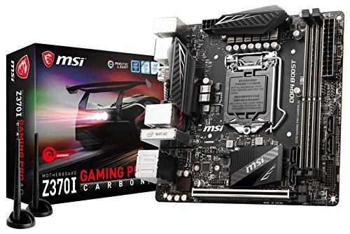 MSI Z370I Gaming Pro Carbon Ac Scheda Madre, Nero