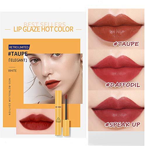 Velvet lip glaze matte durable rouge à lèvres imperméable et hydratant anti-adhésif baume à lèvres coupe ne se fane pas riche brillant à lèvres (1pc, TAUPE)