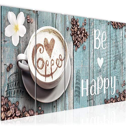 Bild Küche Kaffee Kunstdruck Vlies Leinwandbild Wanddekoration Wohnzimmer Schlafzimmer 020756c