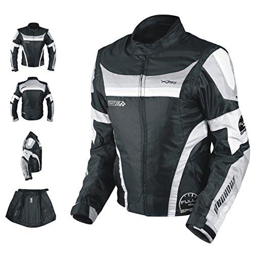 A-pro Blouson Oxford Nylon Homme Textile CE Protections Thermique Moto gris XL