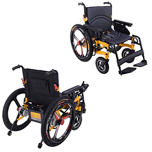 Fantastic Prices! TXDWYF Electric Wheelchair Electric Folding Wheelchair Full Intelligent Powerchair...