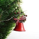 XXXKK Decoración Navideña,Campanas De Navidad Rojas Bolas De Adornos con Purpurina Bolas De Decoración De Árboles De Navidad Decoraciones Colgantes De Navidad Colgante Pequeño De Navidad para