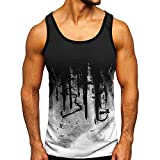DZQUY Men's Muscle Gym Workout Stringer Tank Tops Sleeveless Summer Hipster Slim Fit Bodybuilding Training Athletic T Shirts White