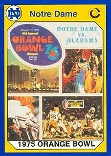 Autograph Warehouse 91359 1975 Orange Bowl Football Card Notre Dame 1990 Collegiate Collection No. 60