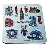 My London Souvenirs - Posavasos (4 unidades), diseño con motivos de Londres