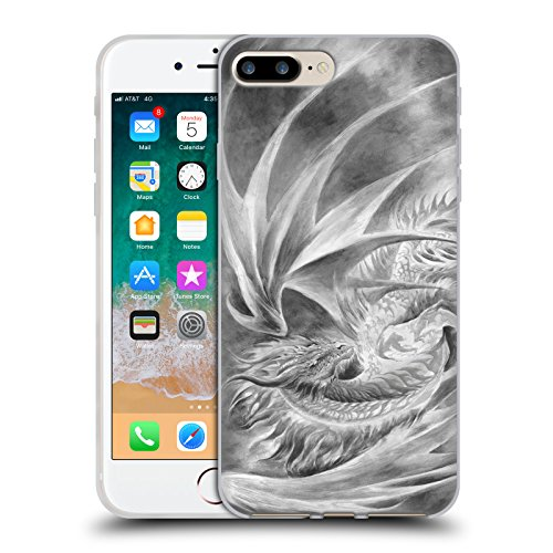 Head Case Designs Oficial Ruth Thompson Hielo de Plata Dragones Carcasa de Gel de Silicona Compatible con Apple iPhone 7 Plus/iPhone 8 Plus