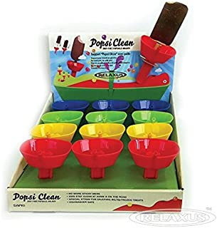 (2-PACK) Relaxus Drip Free Popsicle Holder - Frozen Treats Holder with Straw
