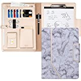 Toplive Padfolio Portfolio Case, Conference Folder Executive Business Padfolio with Document Sleeve,Letter/A4 Size