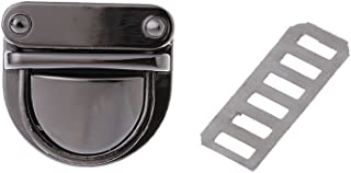 Misright 5 Pcs Metal Tuck Lock Clasp or DIY Handbag Bag Purse Lock Replacement (Gun black)