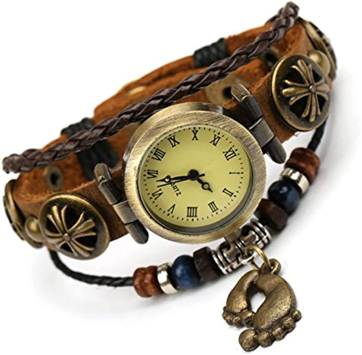 XM New man ladies decorative vintage beaded leather bracelet leather bracelet watch watches