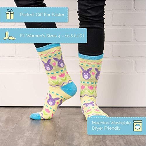 Product Image 2: Easter Crew Socks, Chicks/Bunny Fair Isle/Easter Fair Isle Socks (3 Pack)