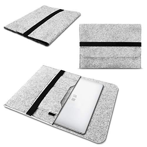 NAmobile Filz Tasche kompatibel für Odys mybook 14 Laptop Hülle Sleeve Schutzhülle Schutz Cover 14 Zoll Universal Tasche Notebooktasche, Farben:Hell Grau