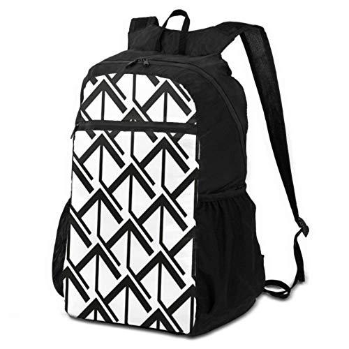 JOCHUAN Backpack Hiking Daypack Women Black White Diamond Shape Ornament Bag for Hiking Traveling Daypack Lightweight Waterproof for Men & Womentravel Camping Outdoor