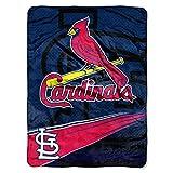 NORTHWEST MLB St. Louis Cardinals Raschel Throw Blanket, 60' x 80', Speed